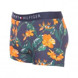 Boxer Tommy Hilfiger en coton stretch bleu jean à fleurs tropicales orange