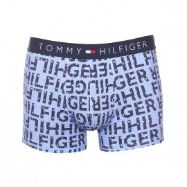 Boxer Tommy Hilfiger en coton stretch bleu jean monogrammé de lettres à étoiles