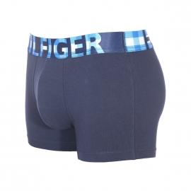 Boxer Tommy Hilfiger en coton stretch bleu marine à large ceinture imprimée Hilfiger à carreaux