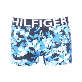 Boxer Tommy Hilfiger en coton stretch bleu marine à motifs blancs, bleu cyan et bleu glacier