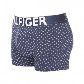 Boxer Tommy Hilfiger en coton stretch bleu marine à petites fleurs