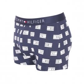 Boxer Tommy Hilfiger en coton stretch bleu marine monogrammé du drapeau