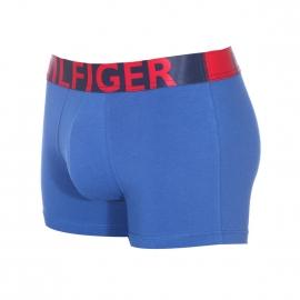 Boxer Tommy Hilfiger en coton stretch bleu roi à large ceinture imprimée Hilfiger