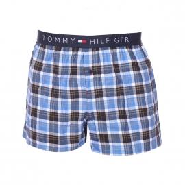 Caleçon Tommy Hilfiger en twill à carreaux blancs, bleu marine, bleu ciel et jaunes
