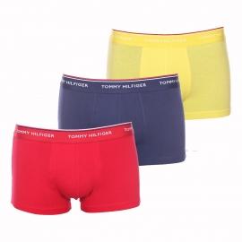 Lot de 3 boxers Tommy Hilfiger en coton stretch bleu marine, rouge et jaune
