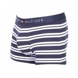 Lot de 3 boxers Tommy Hilfiger en coton stretch bleu roi, bleu azur et rayé bleu marine et blanc
