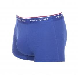 Lot de 3 boxers Tommy Hilfiger en coton stretch bleu roi rouge et bleu ciel