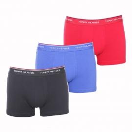 Lot de 3 boxers Tommy Hilfiger en coton stretch noir, rouge et bleu roi