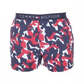 Caleçon Tommy Hilfiger en coton à imprimés camouflages bleu marine, rouges et blancs