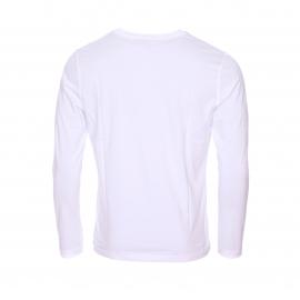Tee-shirt manches longues col rond Tommy Hilfiger en coton biologique blanc