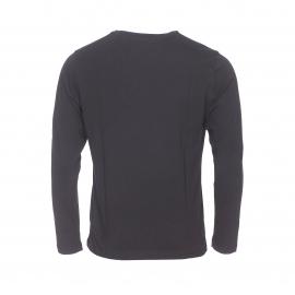 Tee-shirt manches longues col rond Tommy Hilfiger en coton biologique noir