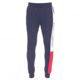Pantalon de jogging Tommy Hilfiger bleu marine à bandes blanche et rouge