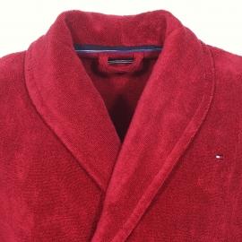 Peignoir de bain Tommy Hilfiger rouge foncé brodé au dos