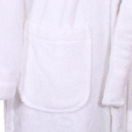 Peignoir de bain à capuche Tommy Hilfiger blanc brodé sur la manche