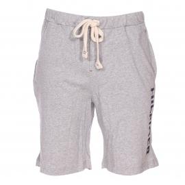 Pyjama court Tommy Hilfiger : Tee-shirt bleu marine et bermuda gris chiné