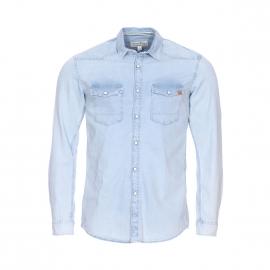 Chemise en jean Tom Tailor bleu clair