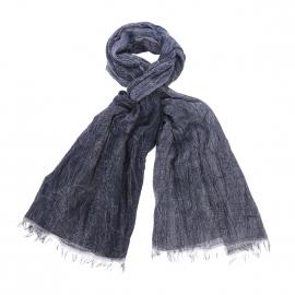 Chèche froissé Wrangler bleu nuit à motifs gris
