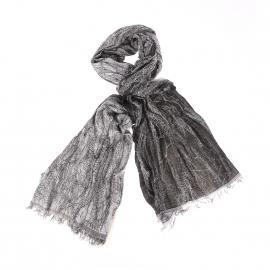 Chèche froissé Wrangler noir à motifs gris effet marbré