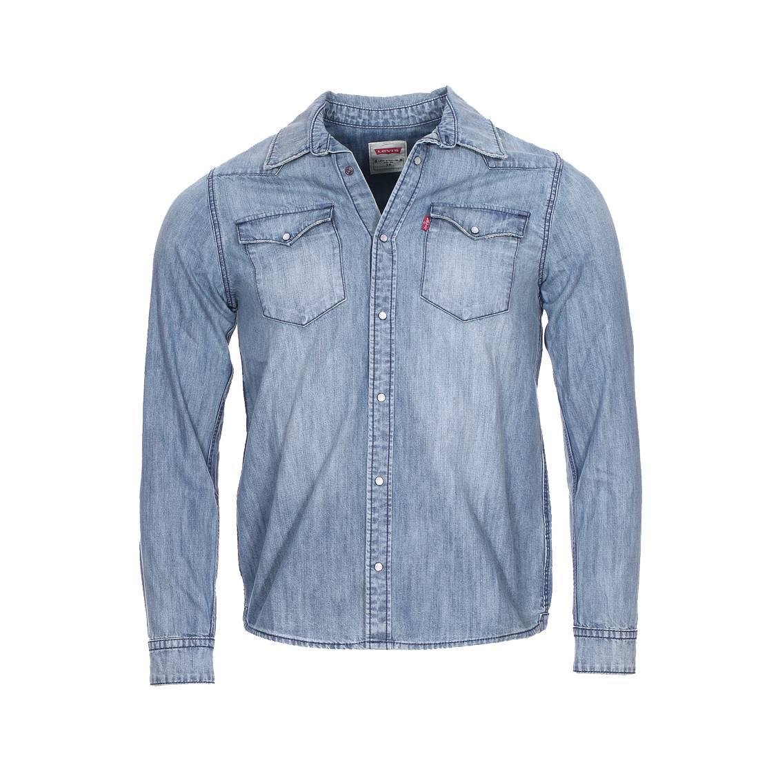 Chemise Jeans Levis avec chemise droite levi's junior en jean bleu delavé, effet usé | rue