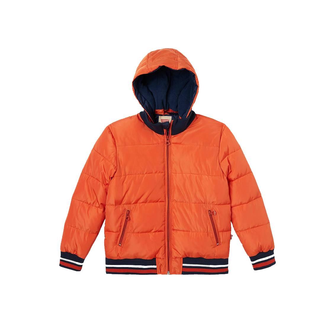Doudoune à capuche amovible levi\'s junior orange