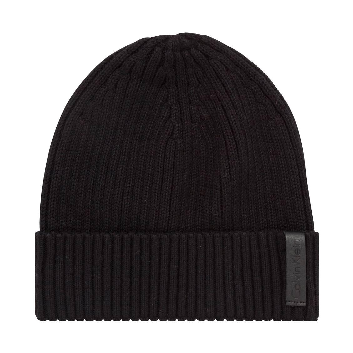 Bonnet  octave en coton et cachemire noir