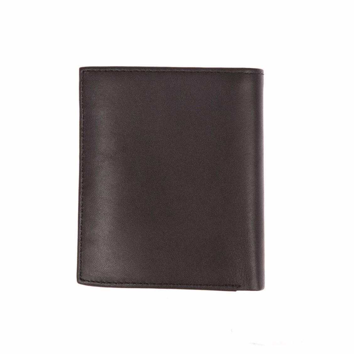 Mini portefeuille europééen L3on Calvin Klein Jeans en cuir noir 4ngTp