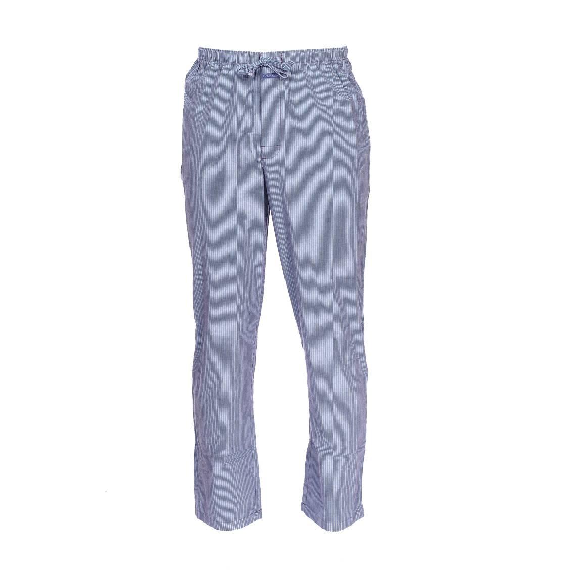 Pantalon de pyjama calvin klein en coton bleu indigo à rayures