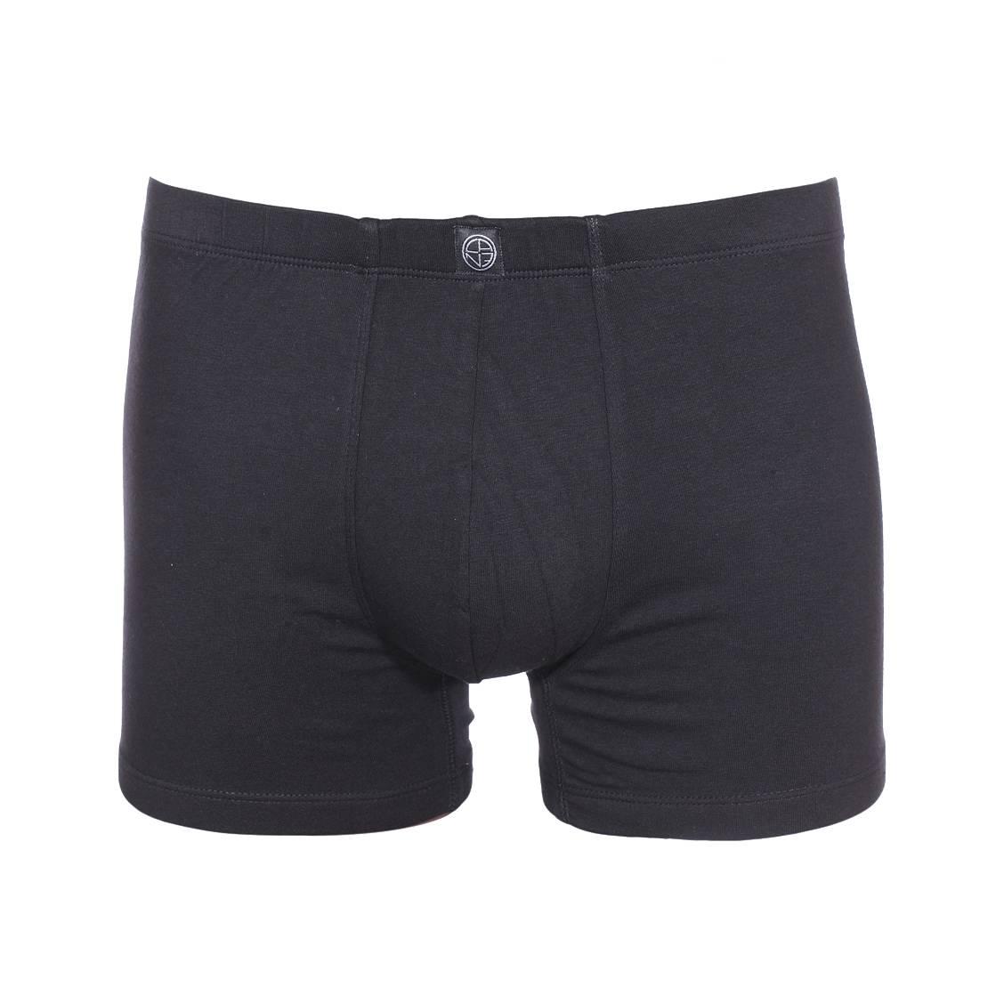 Boxer Bastia Christian Cane en coton stretch noir