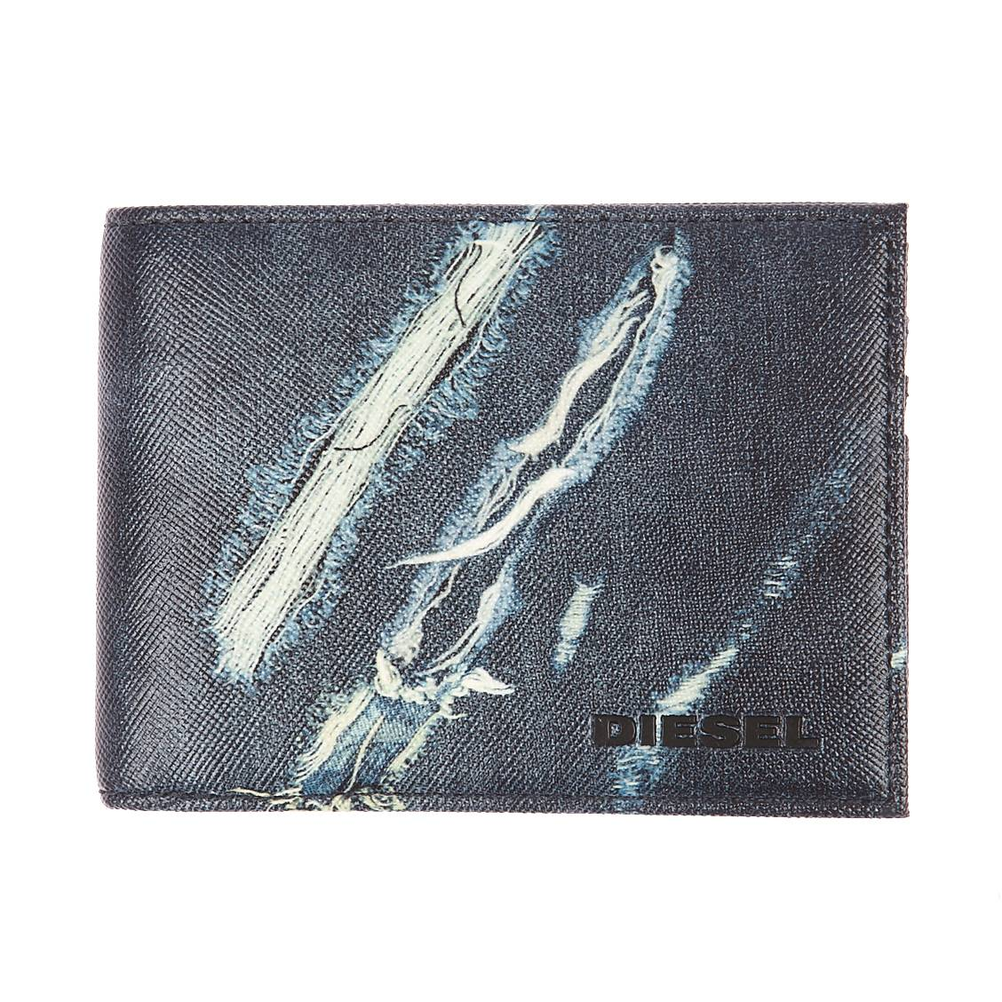 Portefeuille italien neela s  en cuir souple à motifs jean destroy