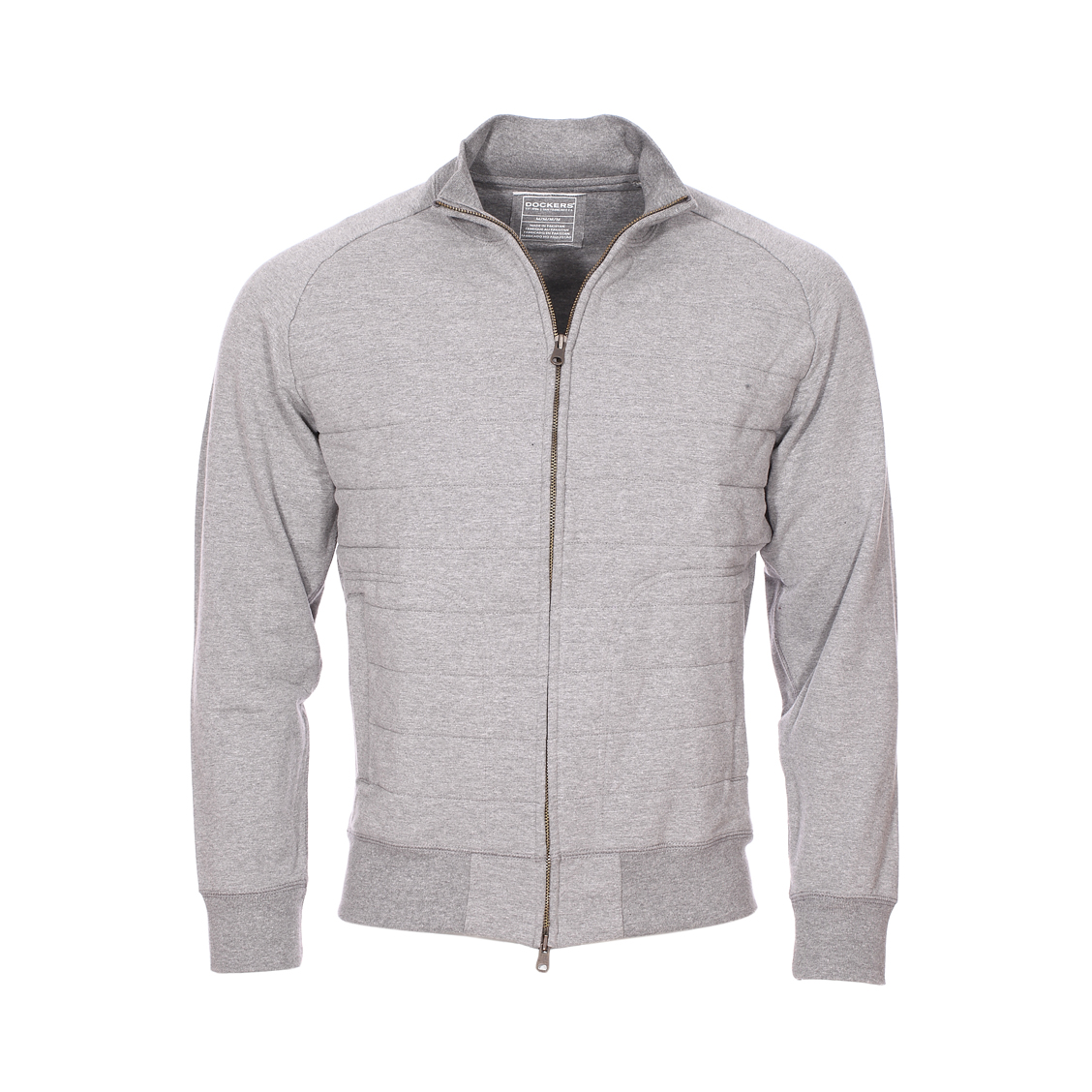 Sweat zippé  gris matelassé