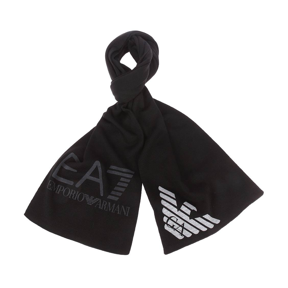 Echarpe  noire monogrammée