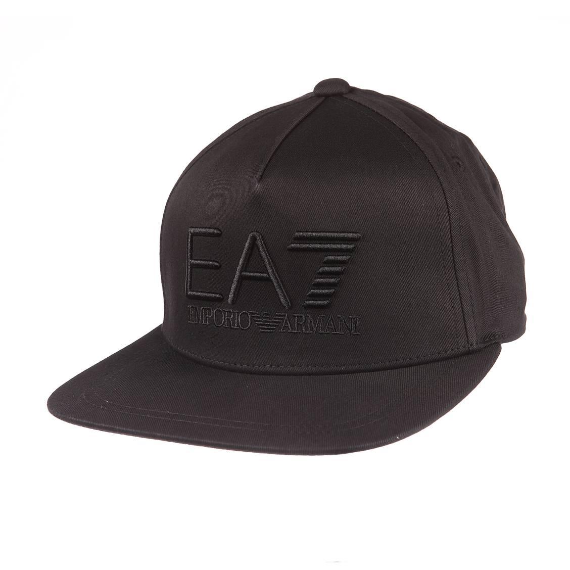 Casquette EA7 noire brodée en noir