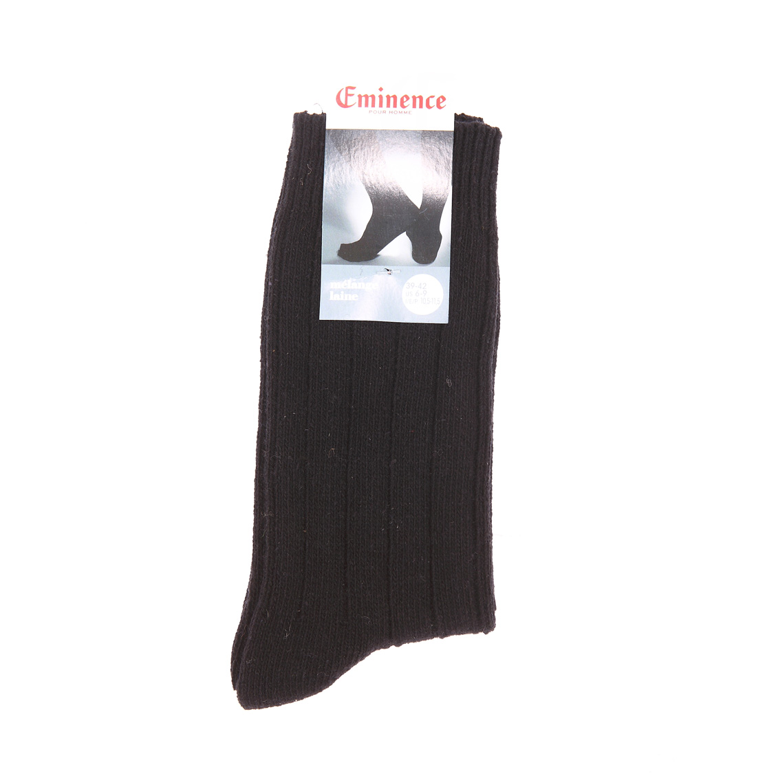 Chaussettes  en laine mélangée noire
