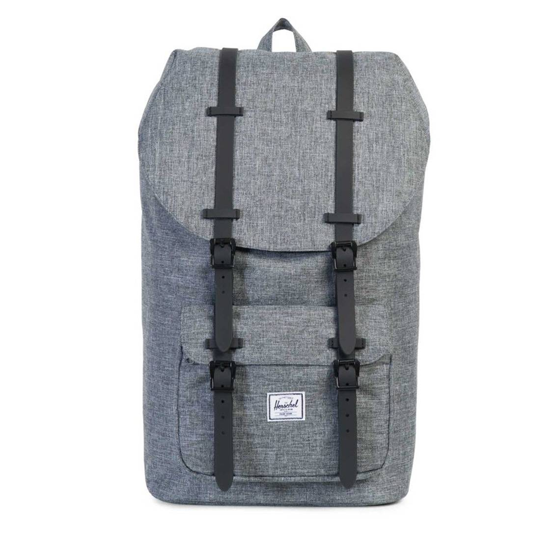 sac dos 25 l little america herschel gris sangles noires compartiment ordinateur 15 pouces. Black Bedroom Furniture Sets. Home Design Ideas