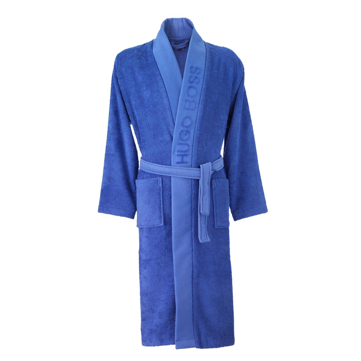 Kimono  plain en coton d\'egypte bleu roi