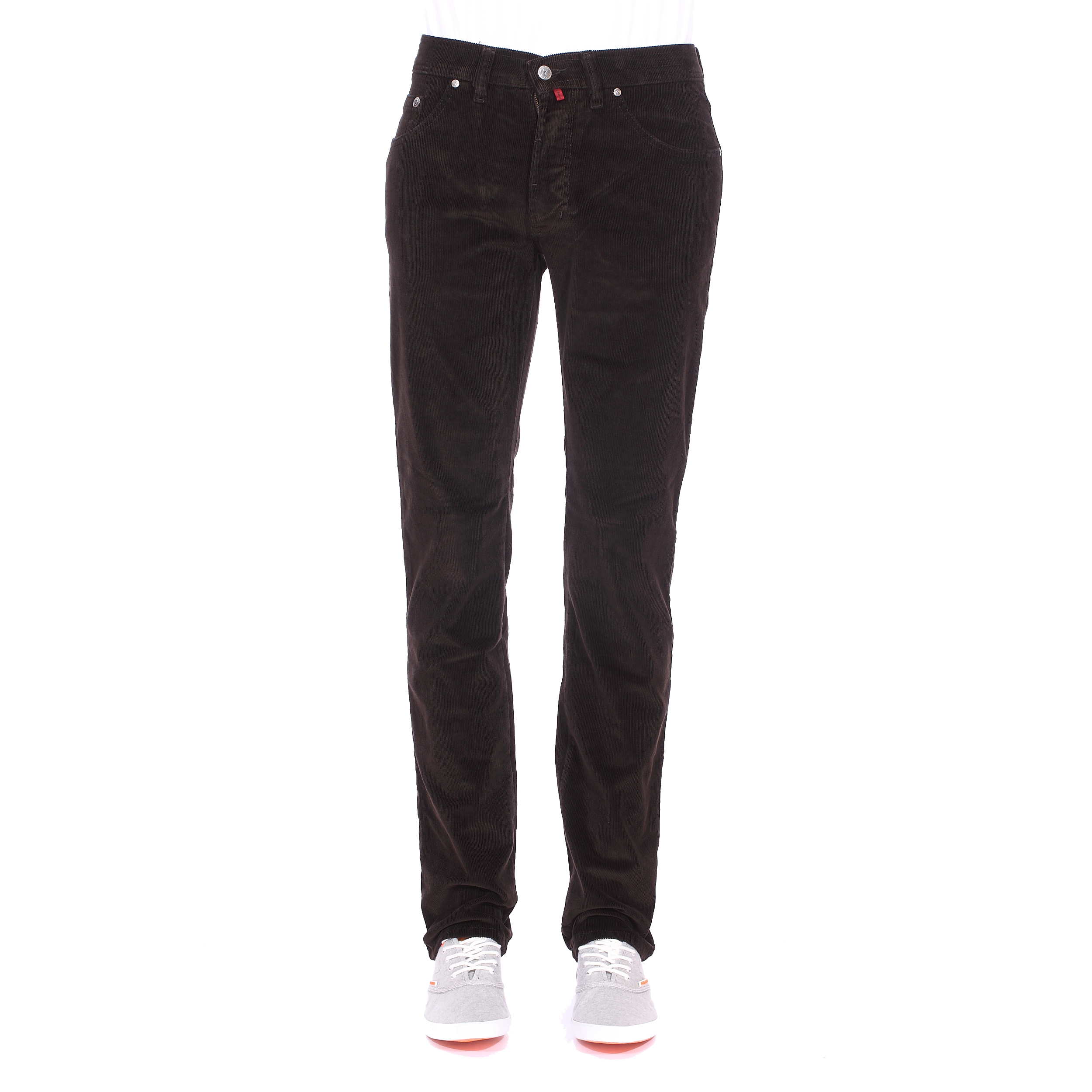 Pantalon droit  en velours marron
