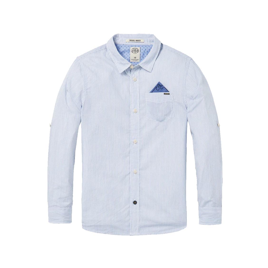 Chemise  en coton à rayures bleues