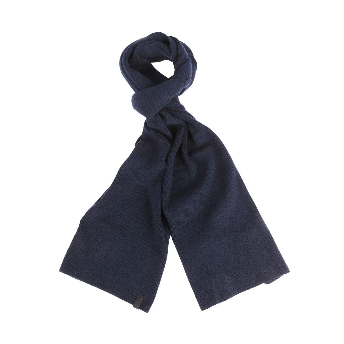 Echarpe  en coton bleu marine