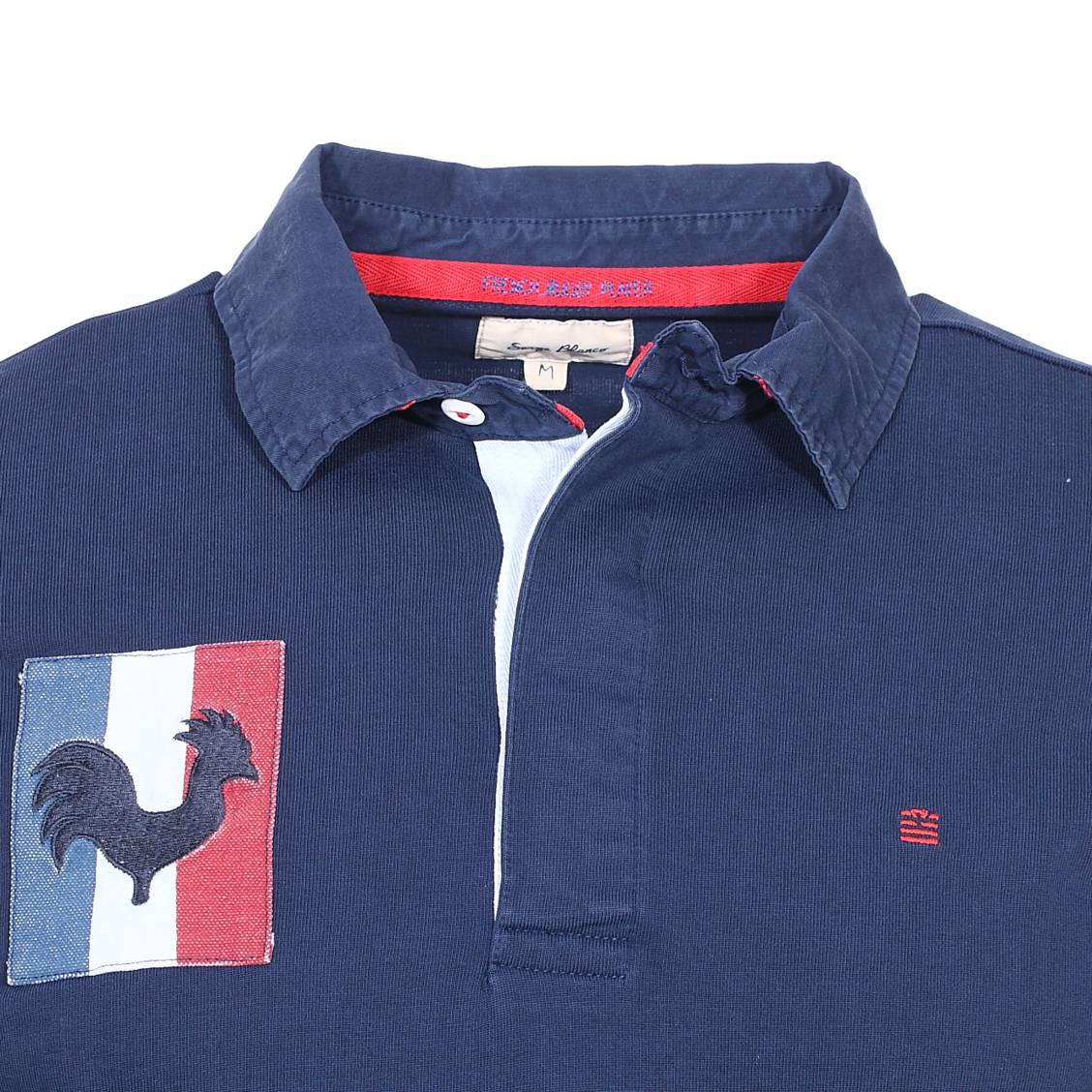 Polos à manches longues Serge Blanco rouges homme DUgSy