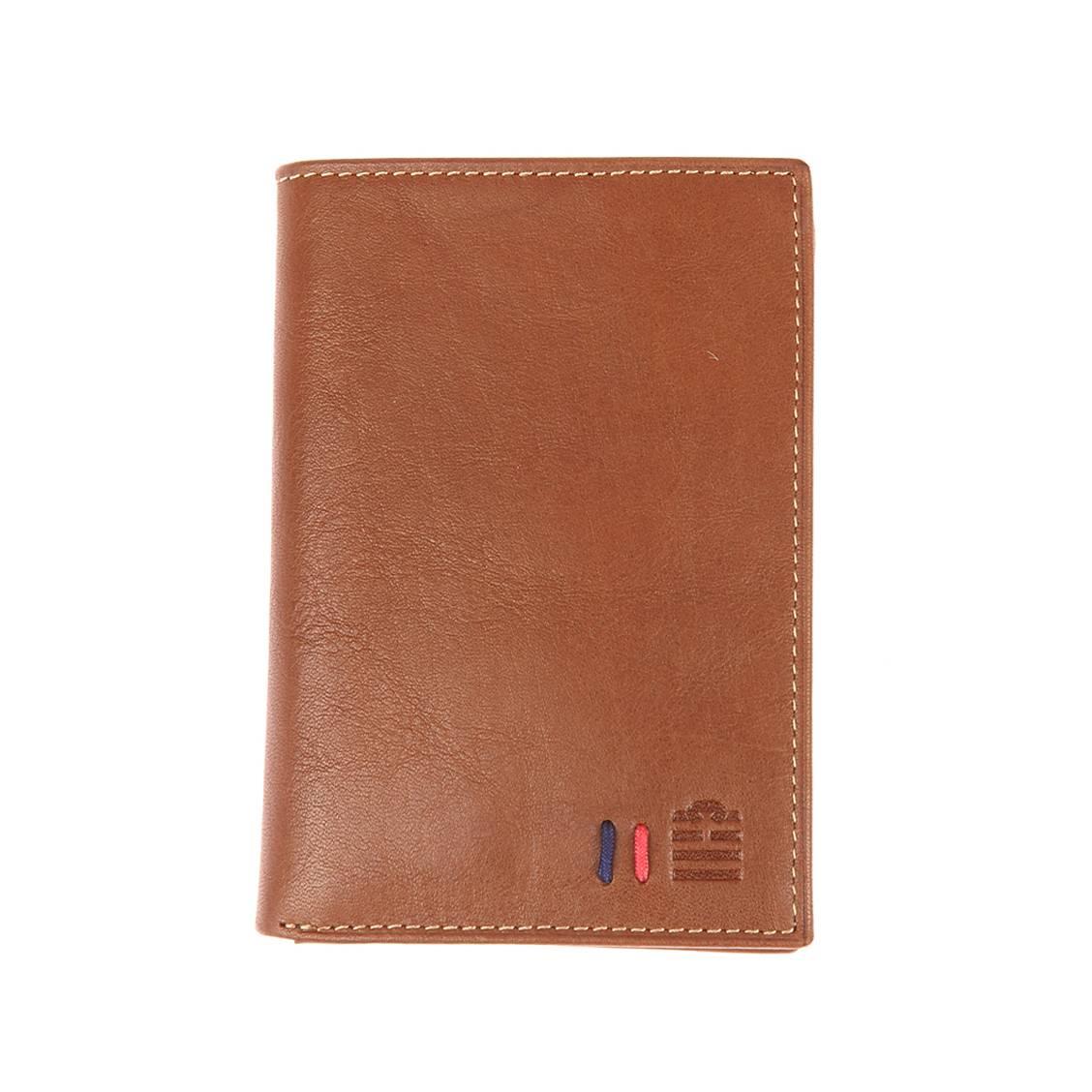 Petit portefeuille européen 2 volets Serge Blanco en cuir noir wadUq26QY