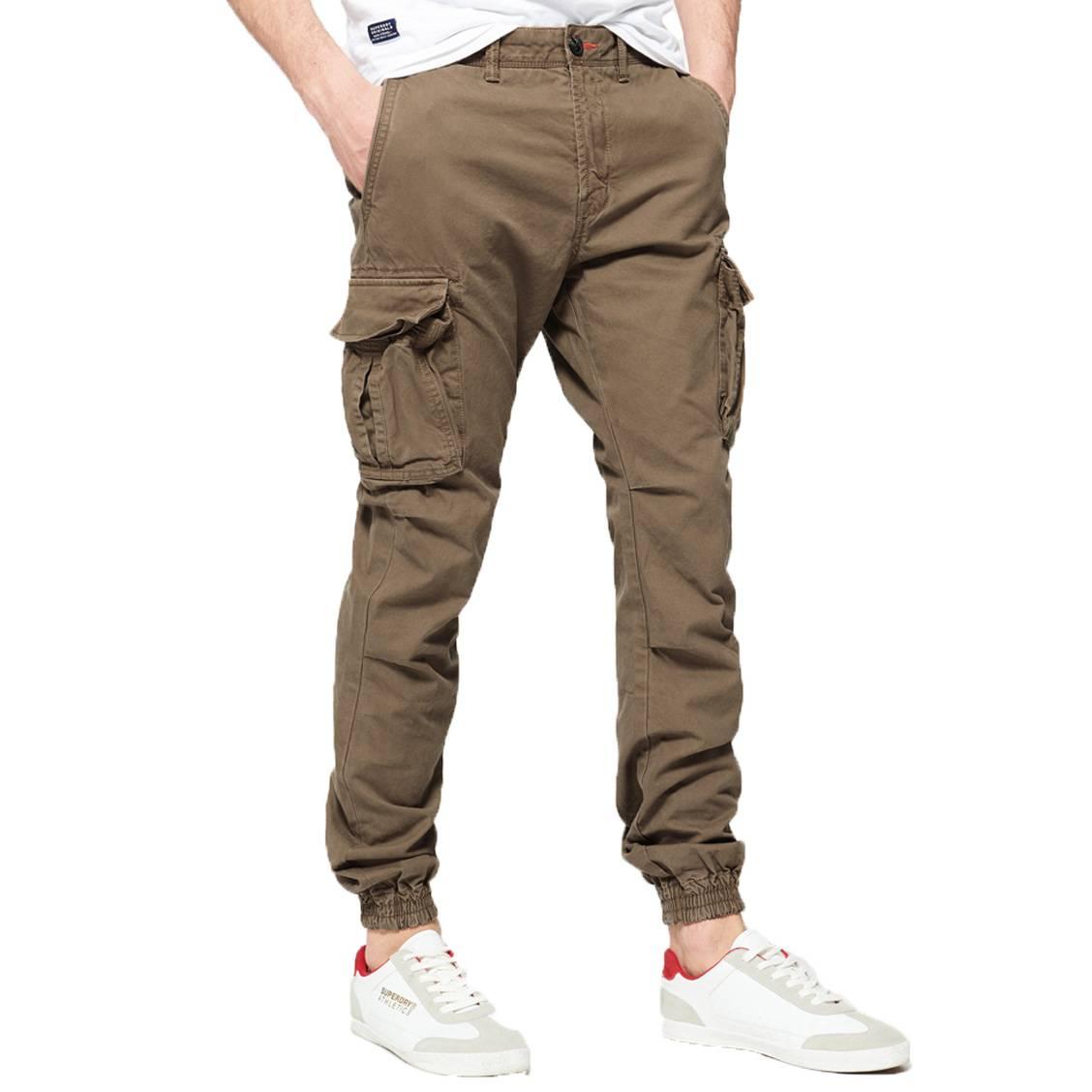 En Superdry KakiRue Hommes Pantalon Des Cargo Coton f6vYg7yb