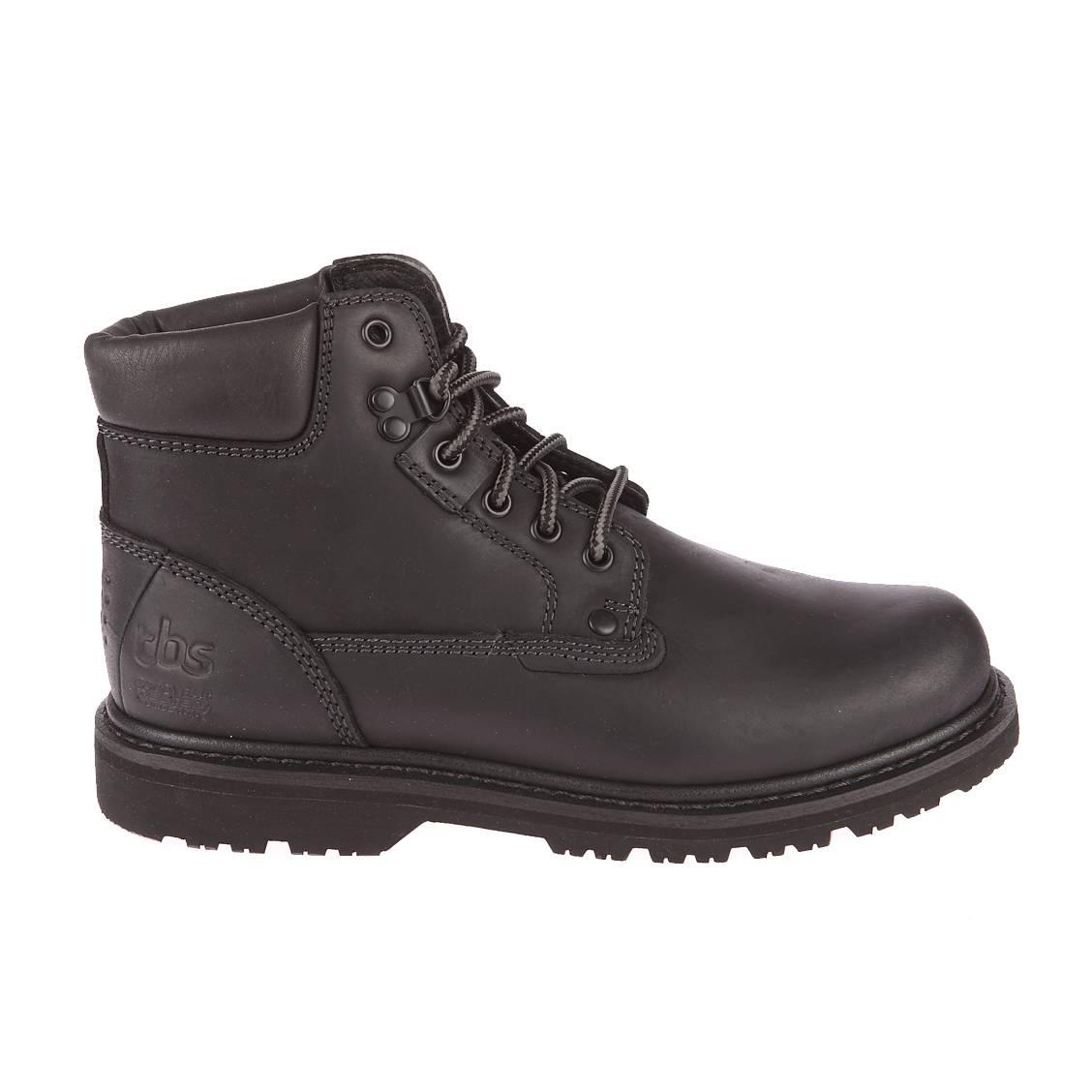 Chaussures montantes Sefano TBS en cuir noir | Rue Des Hommes