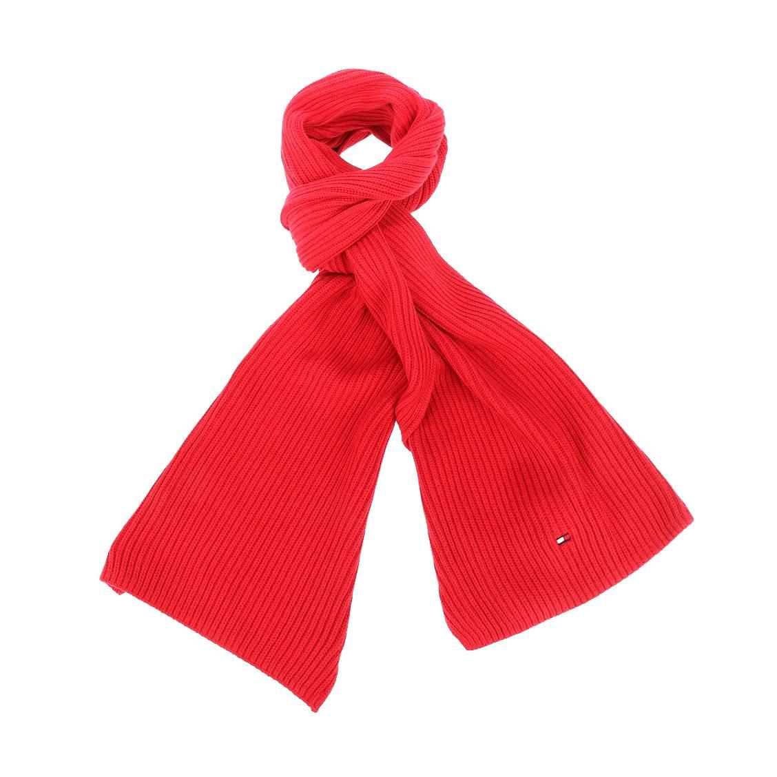 Echarpe tommy hilfiger en coton pima et cachemire rouge