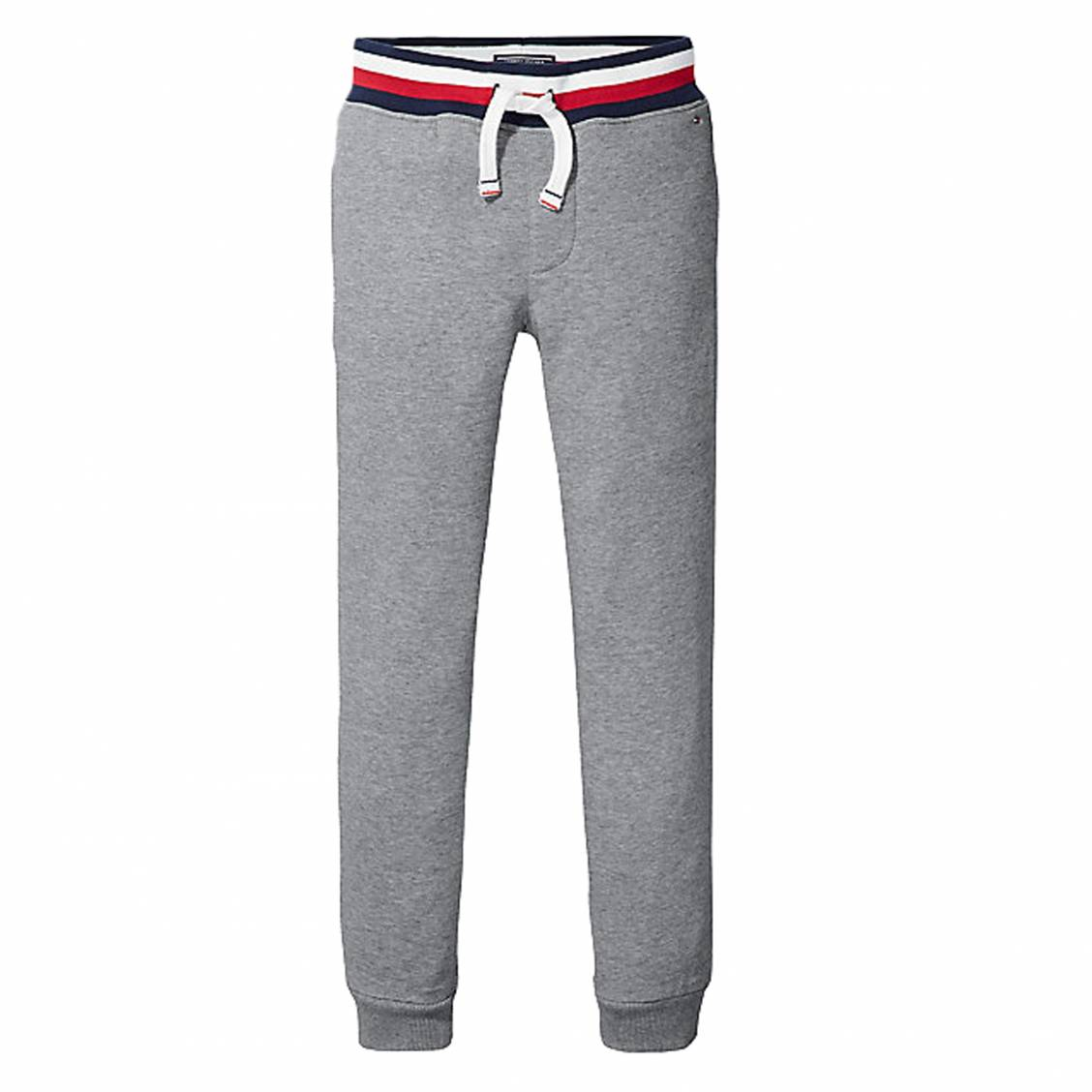 Pantalon de jogging Tommy Hilfiger Junior en coton mélangé gris chiné ... 72937449a52