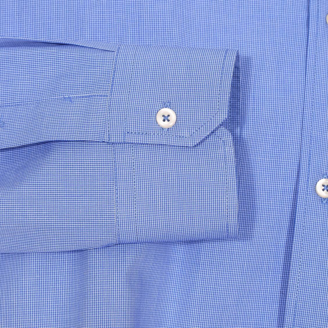 Chemise Cintree U S Polo Assn En Coton A Petits Carreaux Bleus Et