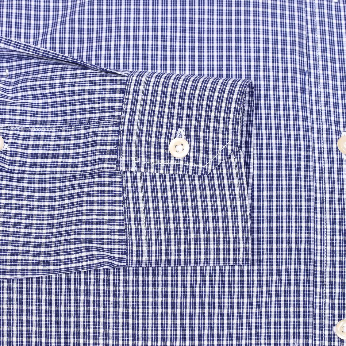 Chemise Cintree U S Polo Assn En Coton A Carreaux Bleu Marine Et