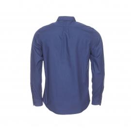 Chemise ajustée Lee unie bleu marine