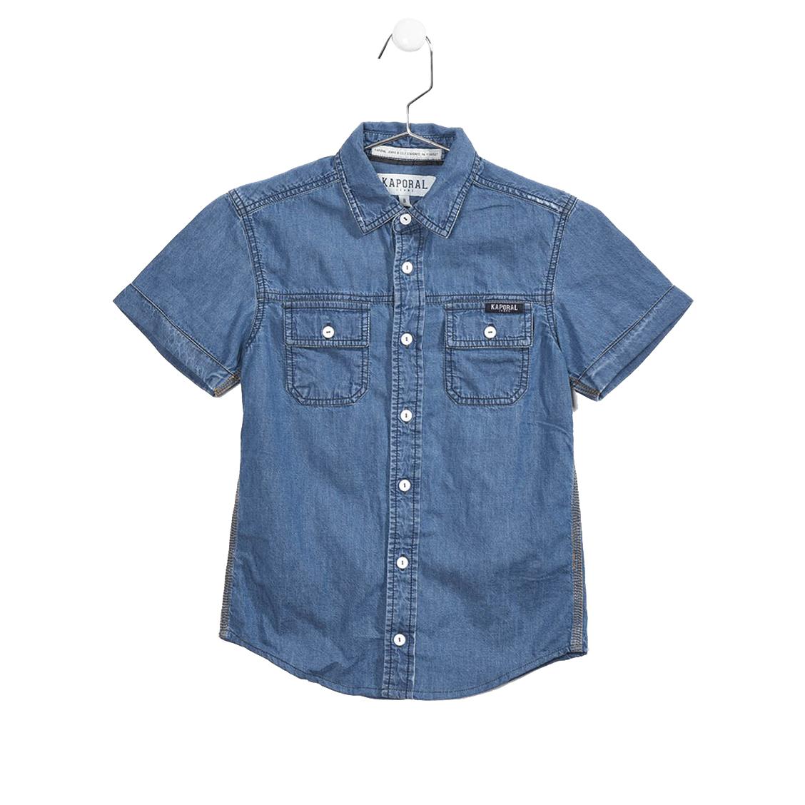 Chemise manches courtes  roper en jeans floqué au dos