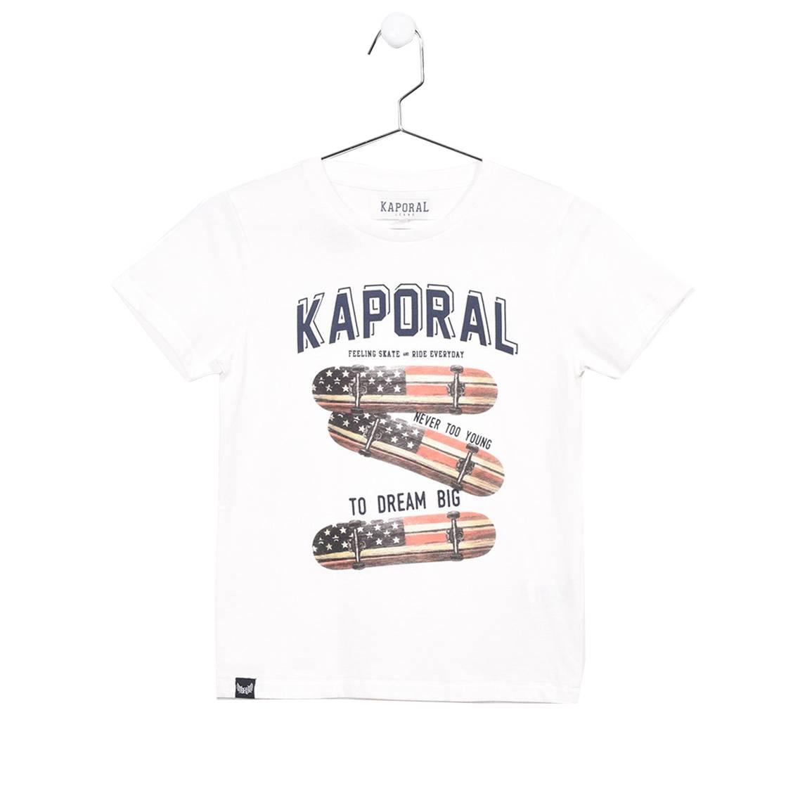 Tee-shirt col rond  road en coton blanc