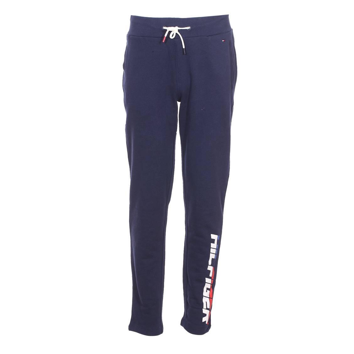 Pantalon de jogging Tommy Hilfiger Junior en coton bleu marine ... 850b8e0c1b4